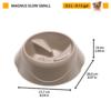 Kép 4/7 - FERPLAST Etető,-Itatótál - Műanyag Magnus Slow 0,5l S