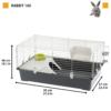 Kép 2/4 - FERPLAST Kisállat Ketrec - Nyúl Rabbit 100 New 97x57x40cm