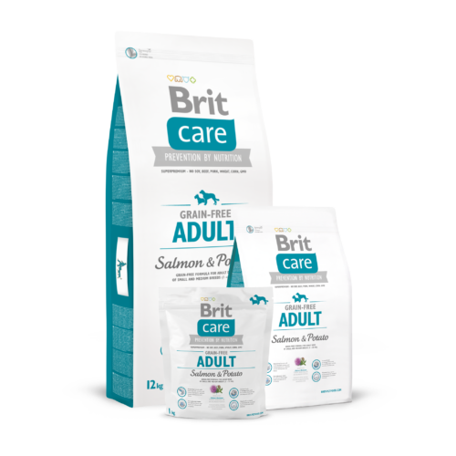 BRIT Care Kutyatáp - Grain Free Adult Salmon & Potato  3kg