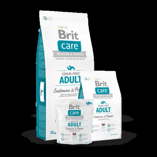 BRIT Care Kutyatáp - Grain Free Adult Salmon & Potato  3kg