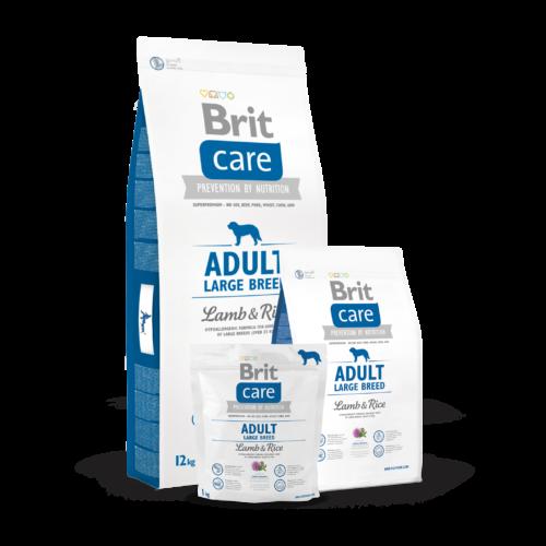 BRIT Care Kutyatáp - Adult Large Breed Lamb & Rice  1kg