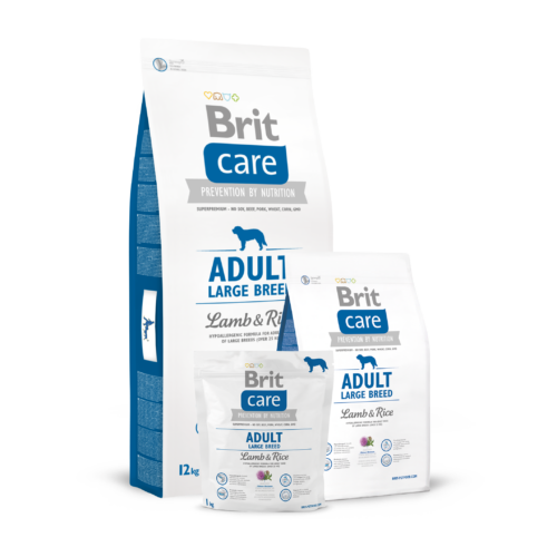 BRIT Care Kutyatáp - Adult Large Breed Lamb & Rice  3kg