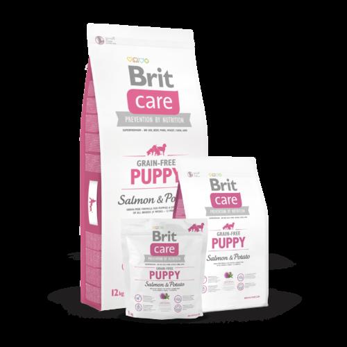 BRIT Care Kutyatáp - Grain Free Puppy Salmon & Potato  3kg
