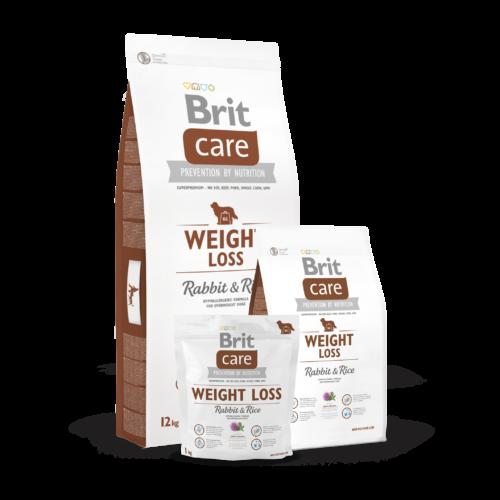 BRIT Care Kutyatáp - Adult Weight Loss Rabbit & Rice 12kg