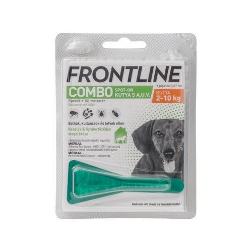 FRONTline Combo Kutya Csepp - Bolha Kullancs  (2-10kg) S 0,67ml x 1