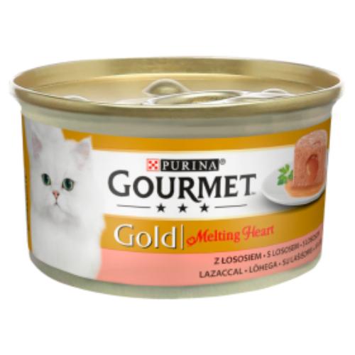 GOURMET GOLD Macska Konzerv - Melting Heart Lazaccal 85g