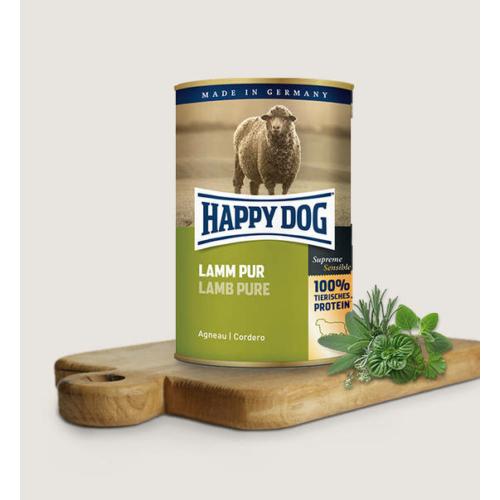 Happy Dog Kutya Konzerv - Lamm Pur (Bárány) 400g