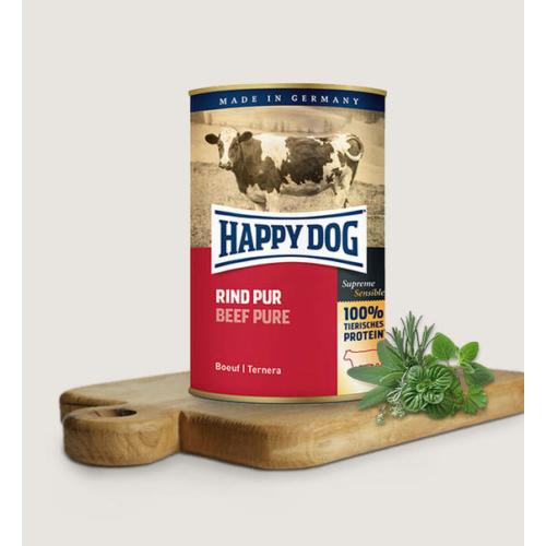 Happy Dog Kutya Konzerv - Rind Pur (Marha) 200g