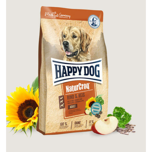 Happy Dog Kutyatáp - Natur Croq Rind & Reis 15kg