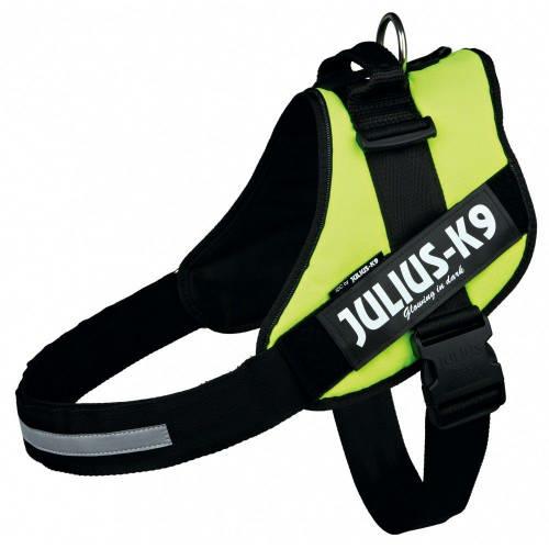 JULIUS-K9 Kutya Hám - IDC Powerhám (40-53cm, 4-7kg) Mini-Mini Neonzöld