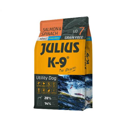 JULIUS-K9 Kutyatáp - Adult GF Utility Dog Hypoallergenic Salmon Spinach  3kg