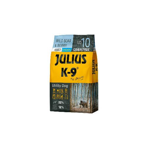 JULIUS-K9 Kutyatáp - Adult GF Utility Dog Hypoallergenic Boar Berry 10kg