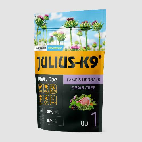JULIUS-K9 Kutyatáp - Puppy GF Utility Dog Hypoallergenic Lamb Herbals   340g
