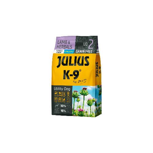 JULIUS-K9 Kutyatáp - Puppy GF Utility Dog Hypoallergenic Lamb Herbals 10kg