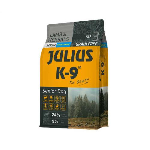 JULIUS-K9 Kutyatáp - Senior GF Hypoallergenic Lamb Herbals  3kg