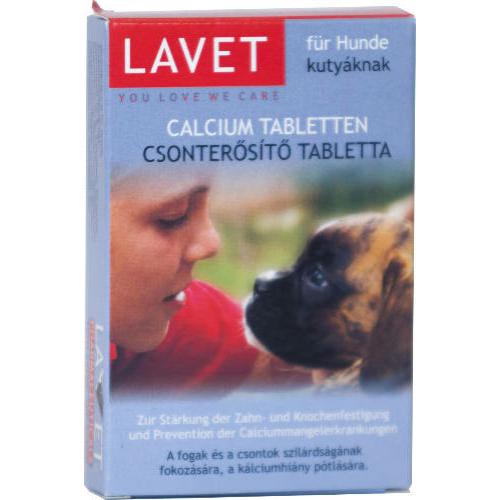 LAVET Kutya Csonterősítő - Kálcium Tabletta 50db