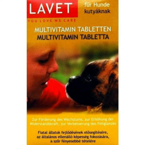 LAVET Kutya Vitamin - Multi Vitamin Tabletta 50db