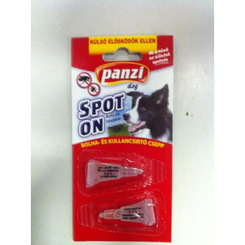 PANZI Kutya Spot On - Bolha- és kullancsírtó Csepp 1ml x 2
