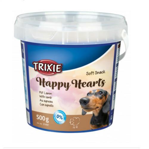 TRIXIE Kutya Jutalomfalat - Soft Snack Happy Hearts Bárány-Rizs 500g