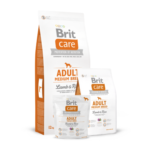 BRIT Care Kutyatáp - Adult Medium Breed Lamb & Rice  1kg