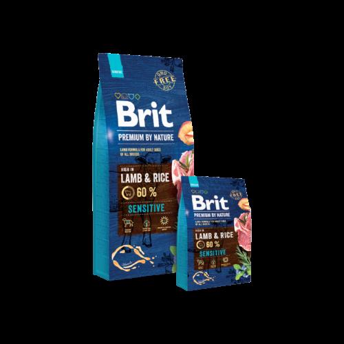 BRIT Prémium by Nature Kutyatáp - Adult Sensitive 15kg
